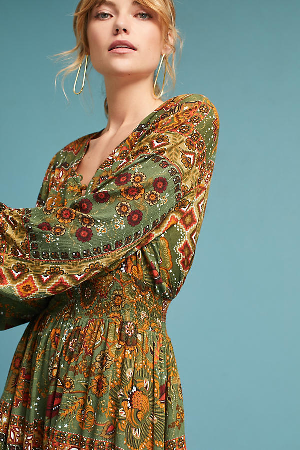 Farm Rio Ruffled Peasant Dress