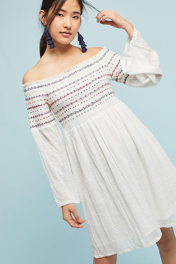 Farm Rio Off-The-Shoulder Smocked Top