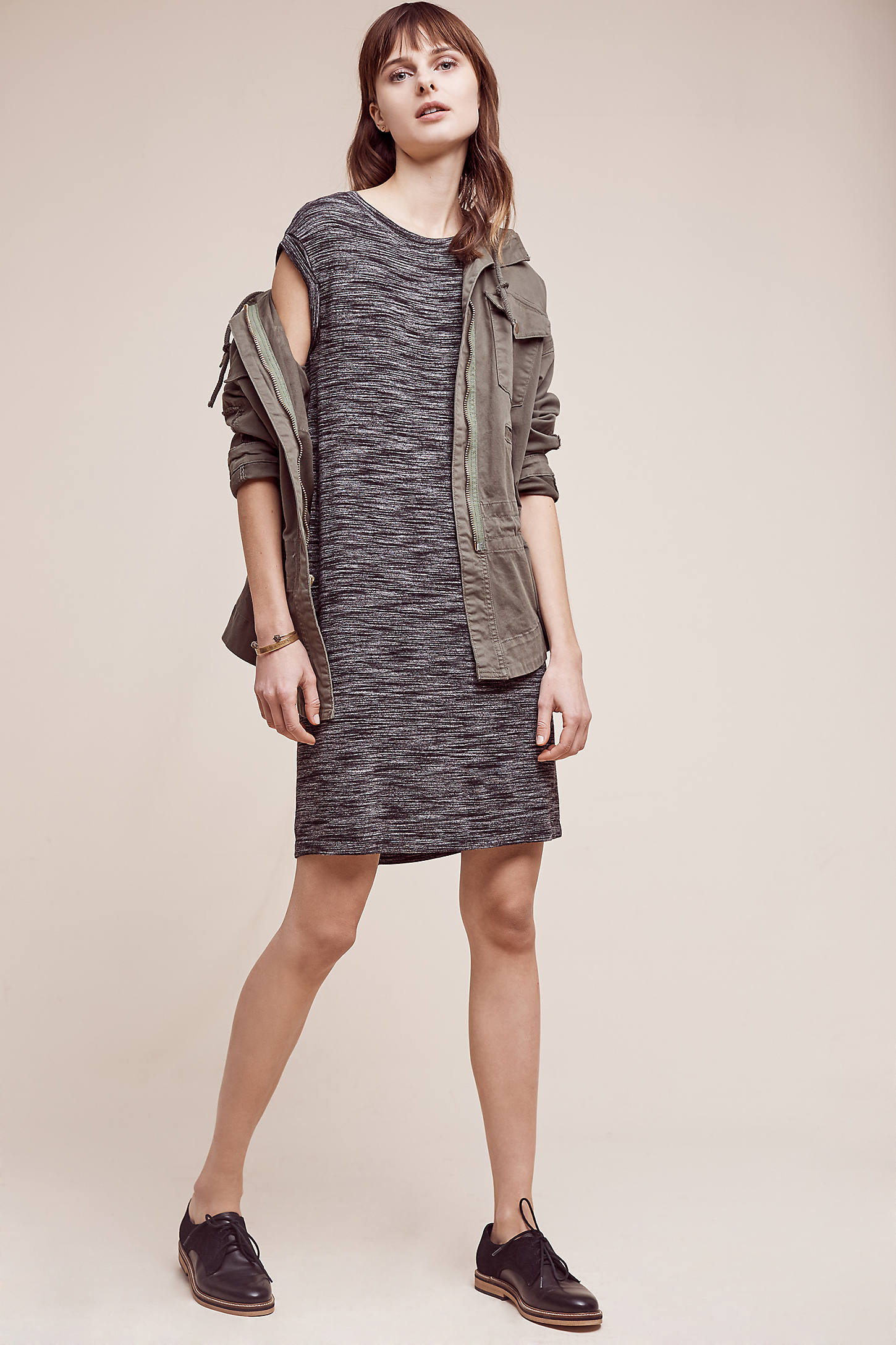 Melange T-Shirt Dress, Grey