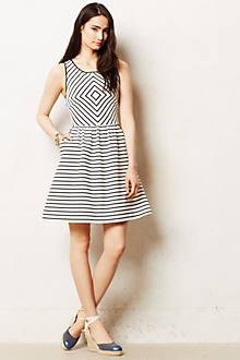 Mitred Stripe Dress