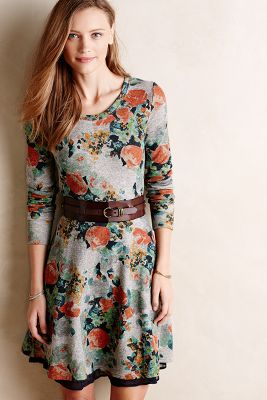 Terry Floral Fit & Flare Dress