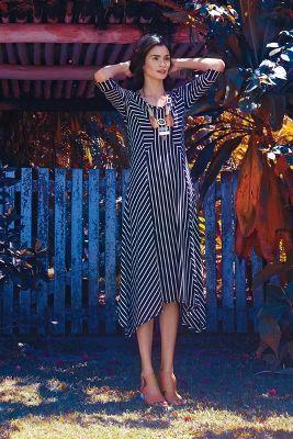 Pieced Stripe Dress