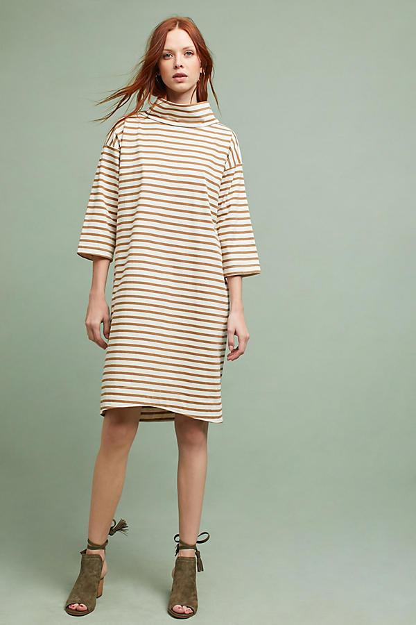 WHIT Striped Midi Dress