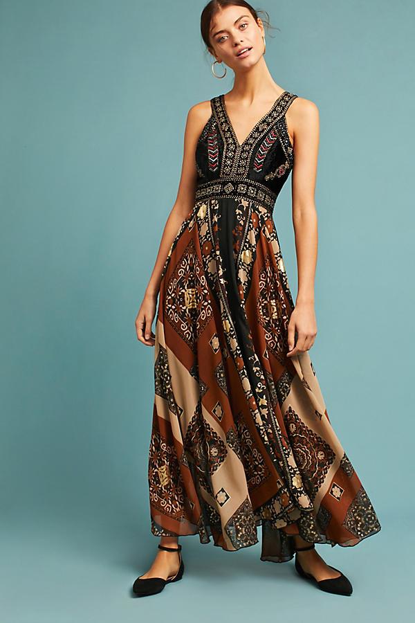 Shenia Embroidered Maxi Dress