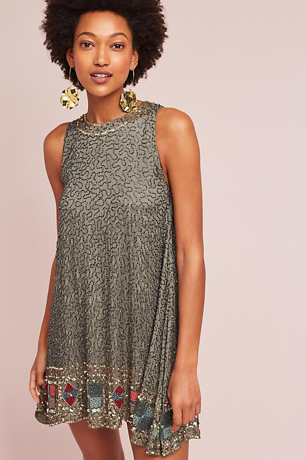 Hanna Beaded Swing Dress