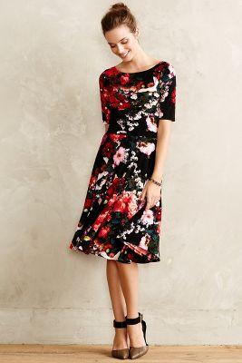 Photostat Floral Dress