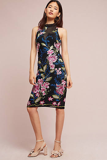 Rose Hill Embroidered Column Dress