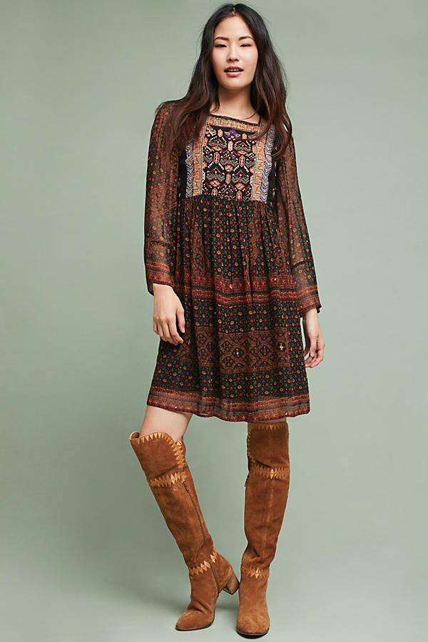 Munro Embroidered Tunic Dress
