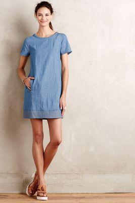 Braided Chambray Tunic Dress