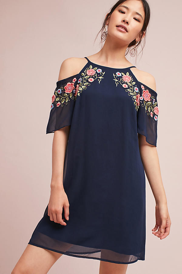 Maia Open-Shoulder Dress