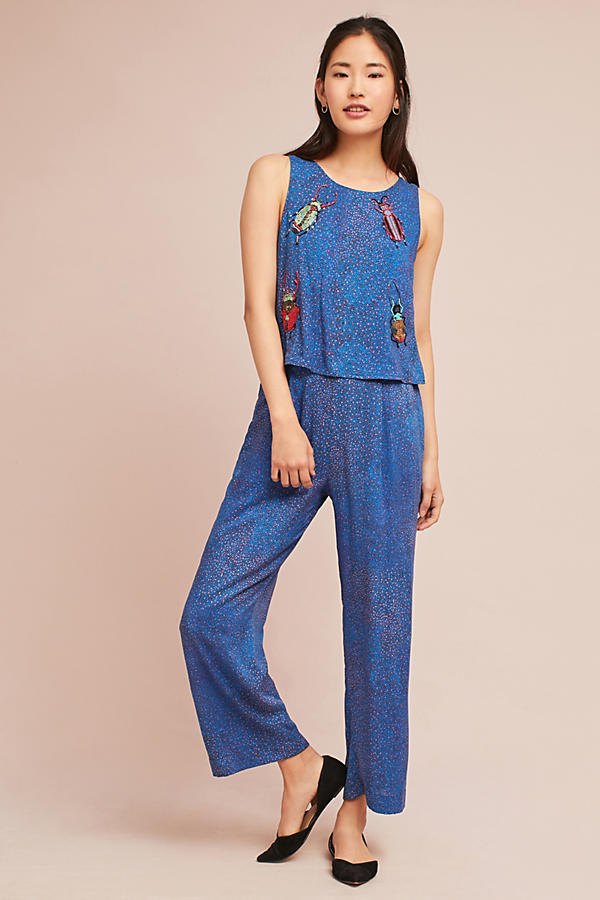 Critter Embroidered Jumpsuit