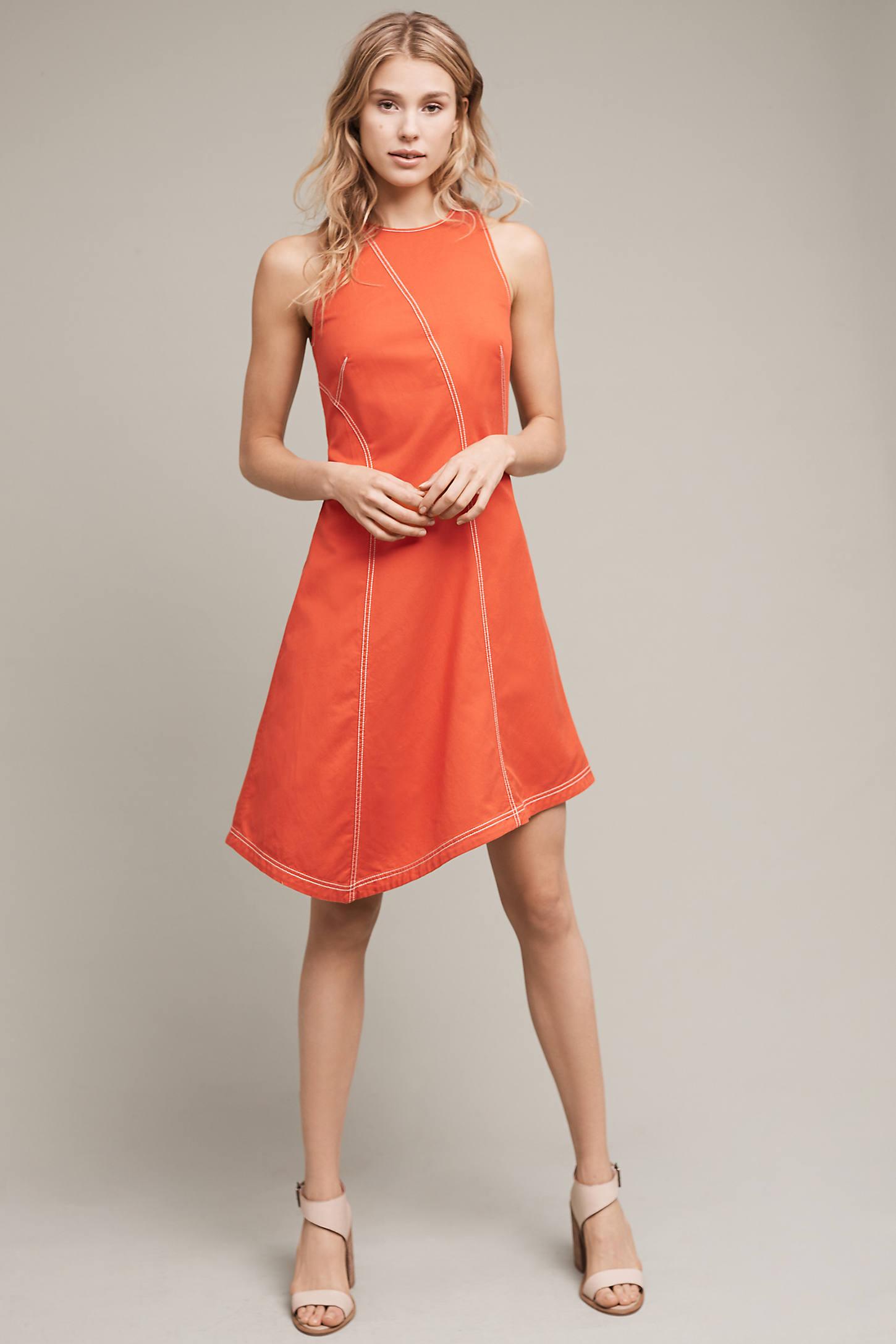 Bileu Asymmetrical Dress, Red