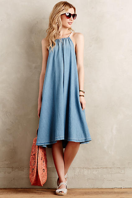 Shoptagr chambray swing dress by holding horses for Online stores like anthropologie