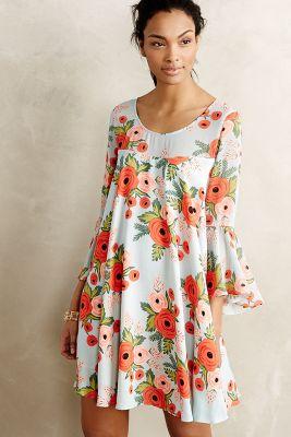 Fluttered Blooms Swing Dress