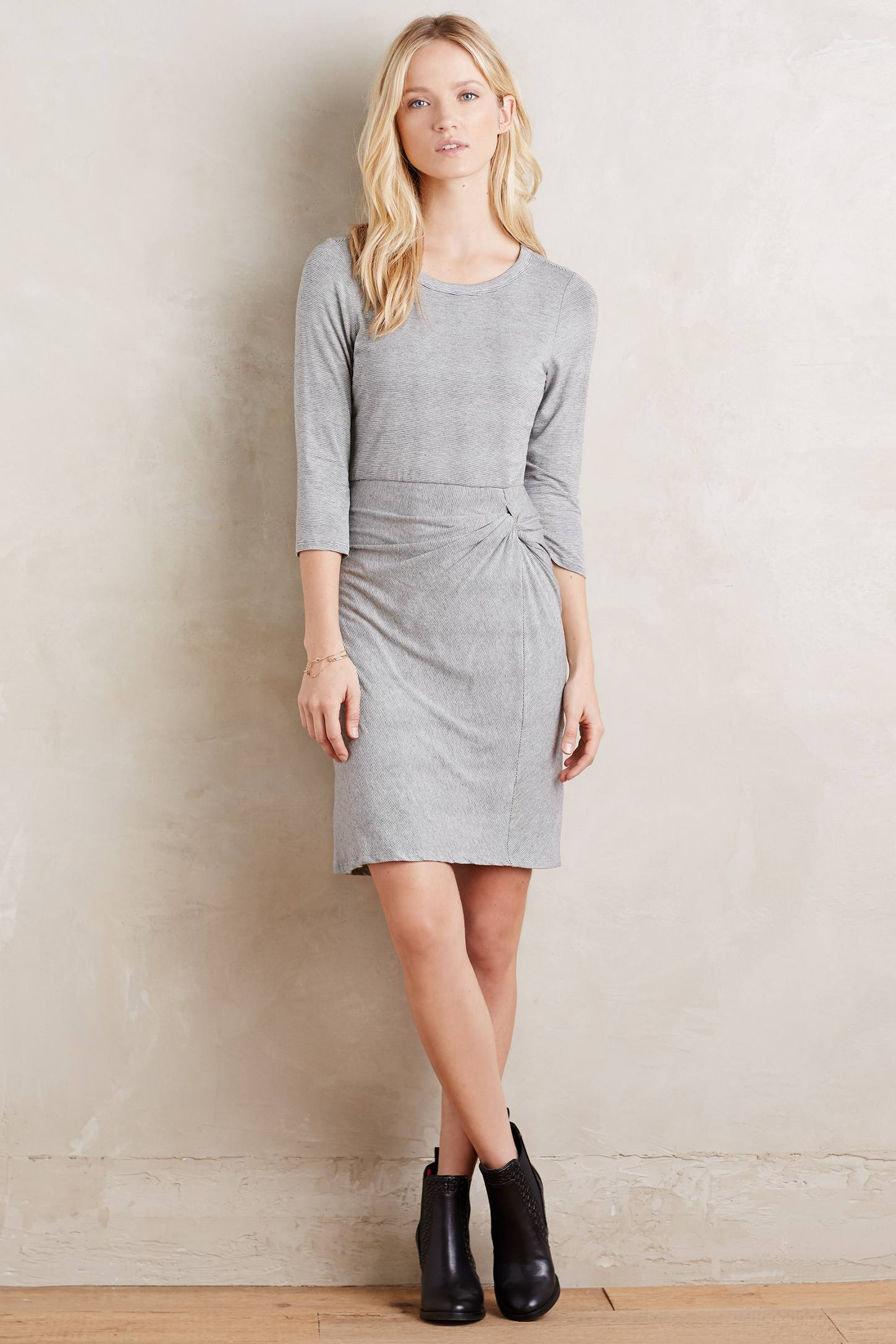 Knotted Knit Dress