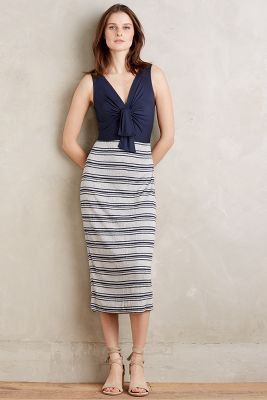 Deryn Tie-Front Midi Dress