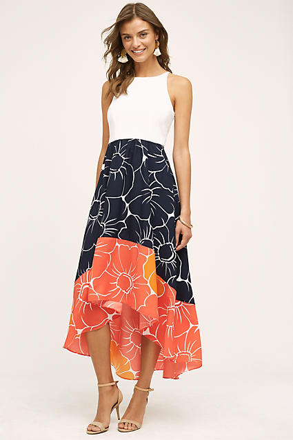 Peachy High Low Dress from Anthropologie