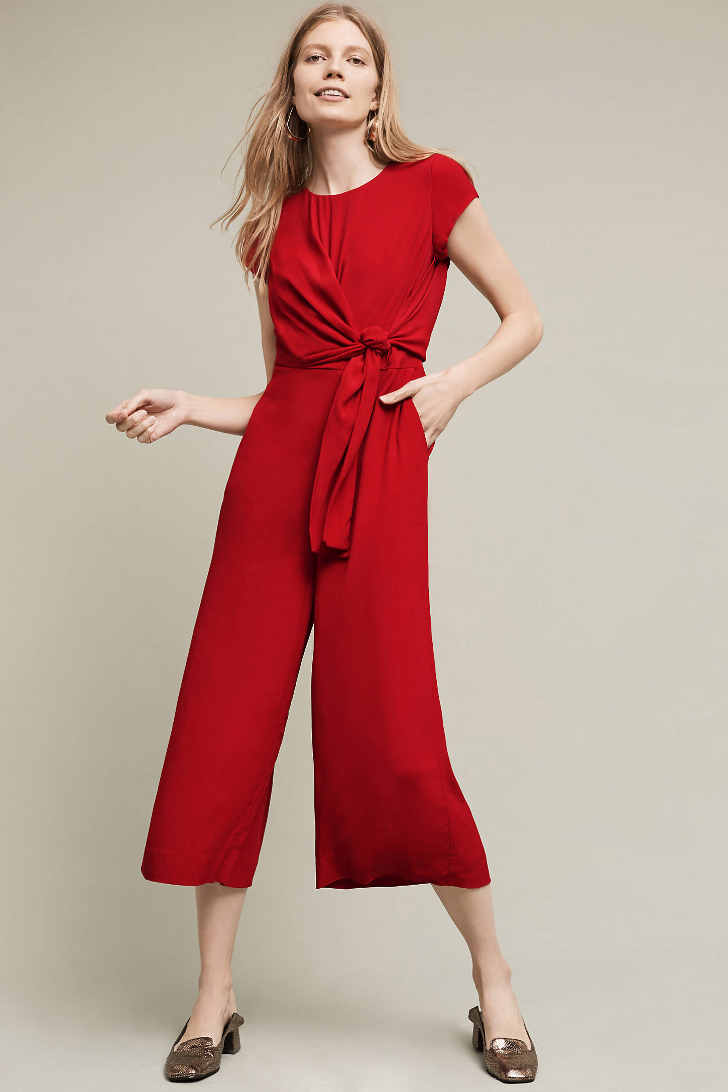 Grier Midi Jumpsuit, Red