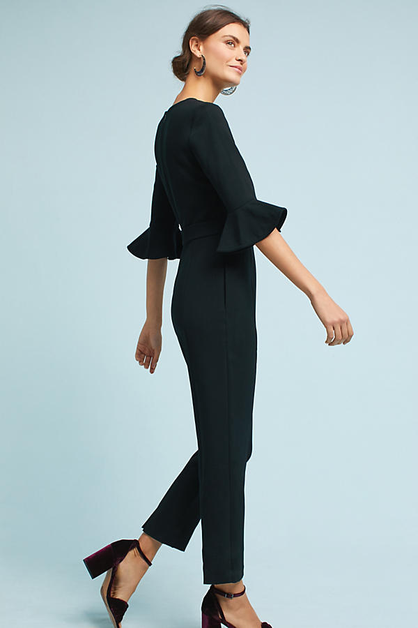 Miranda Flutter-Sleeve Jumpsuit