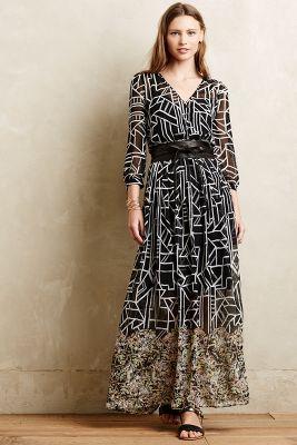 Equinox Pleated Maxi Dress