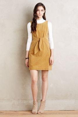 Tied Corduroy Dress
