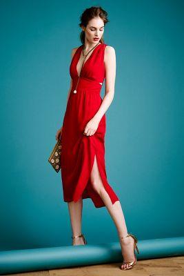 Silk Cut-Out Dress