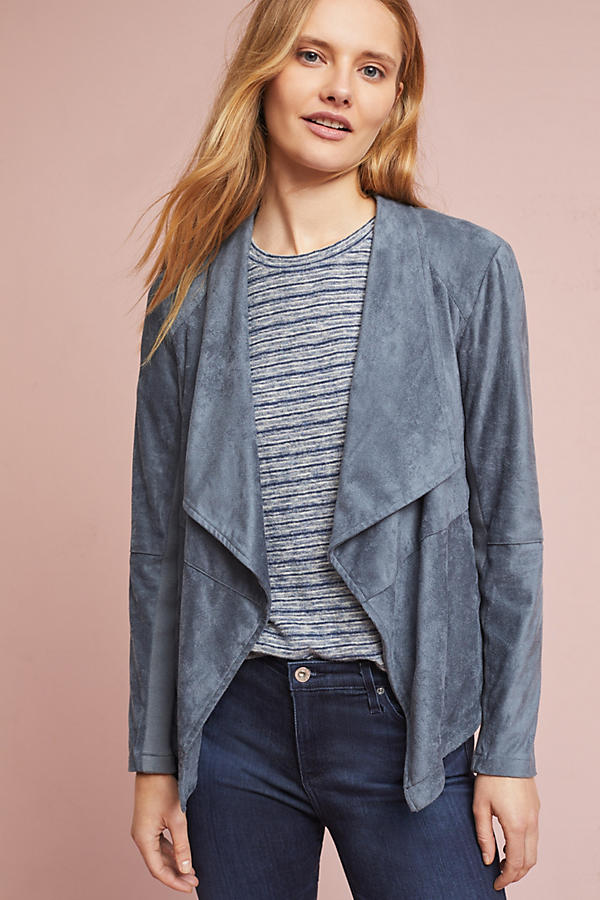 Draped & Sueded Jacket