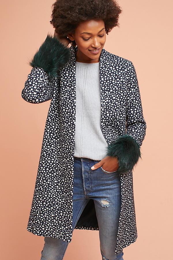 Faux Fur-Cuffed Jacket