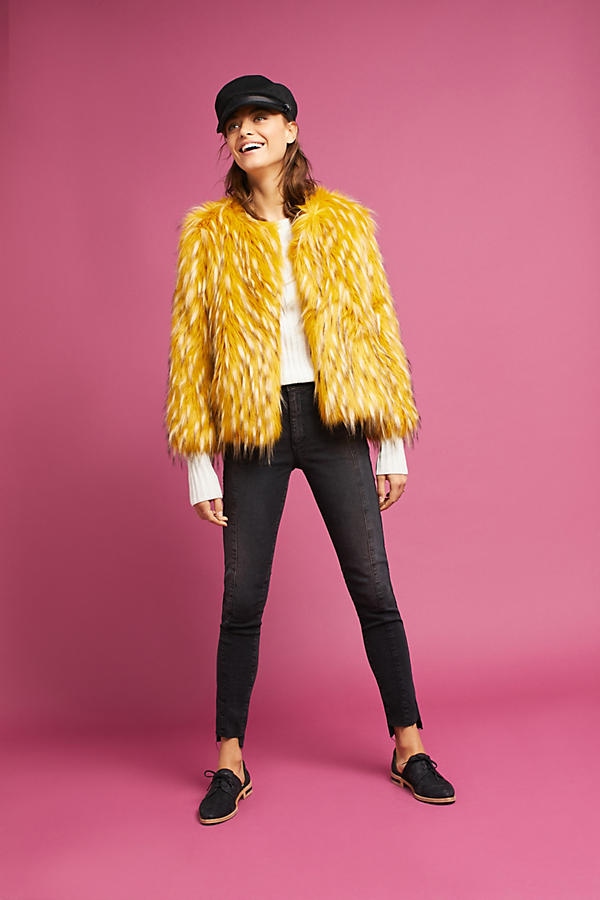 Canary Faux Fur Coat