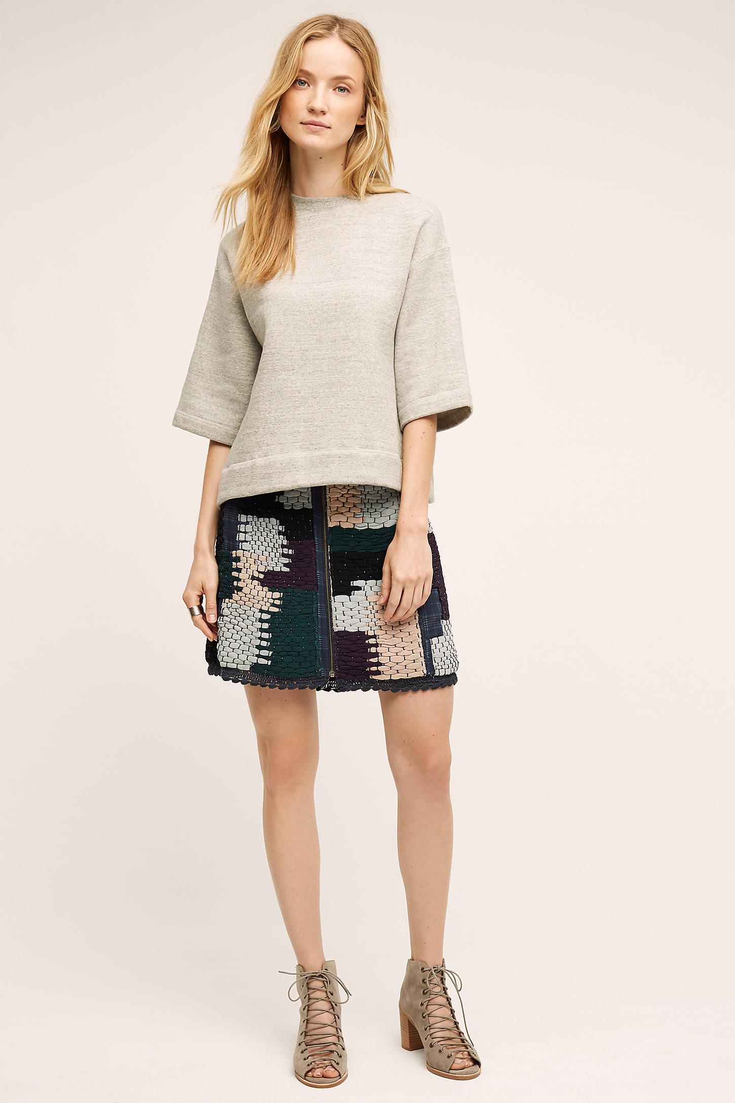 Austinian Tweed Mini Skirt