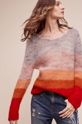 Evany Open-Knit Pullover