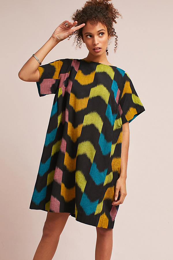 Oversized Ikat Swing Dress