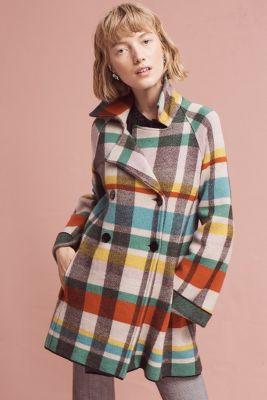 Tartan Wool Coat