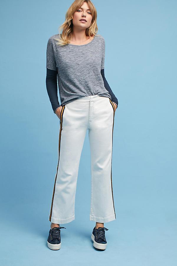 Striped Denim Trousers