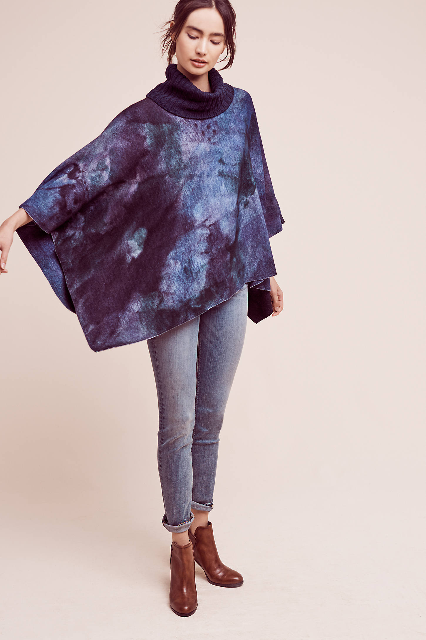 Shiloh Tie-Dyed Wool Cape
