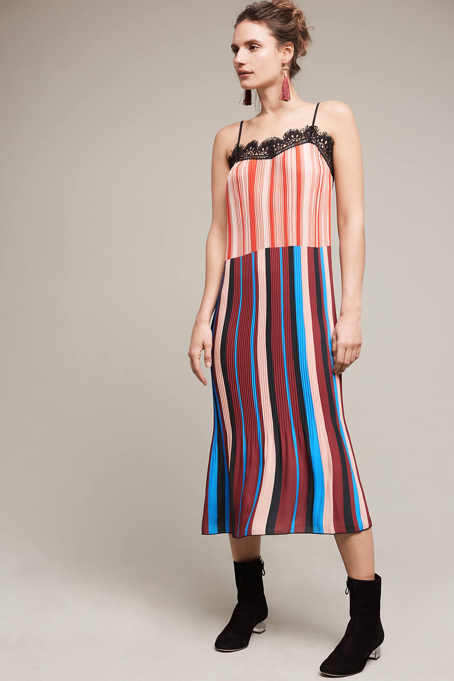 Atlantica Pleated Slip Dress