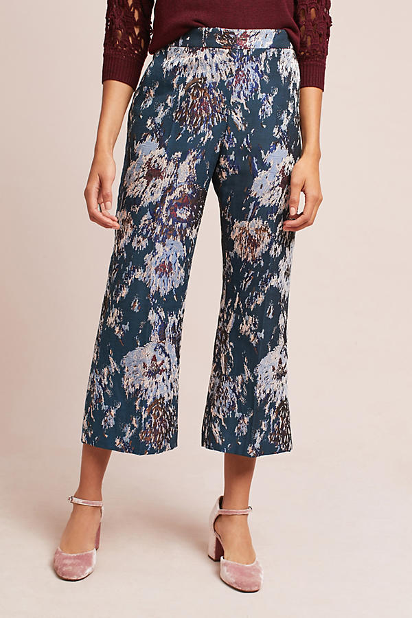 Emma Jacquard Cropped Trousers