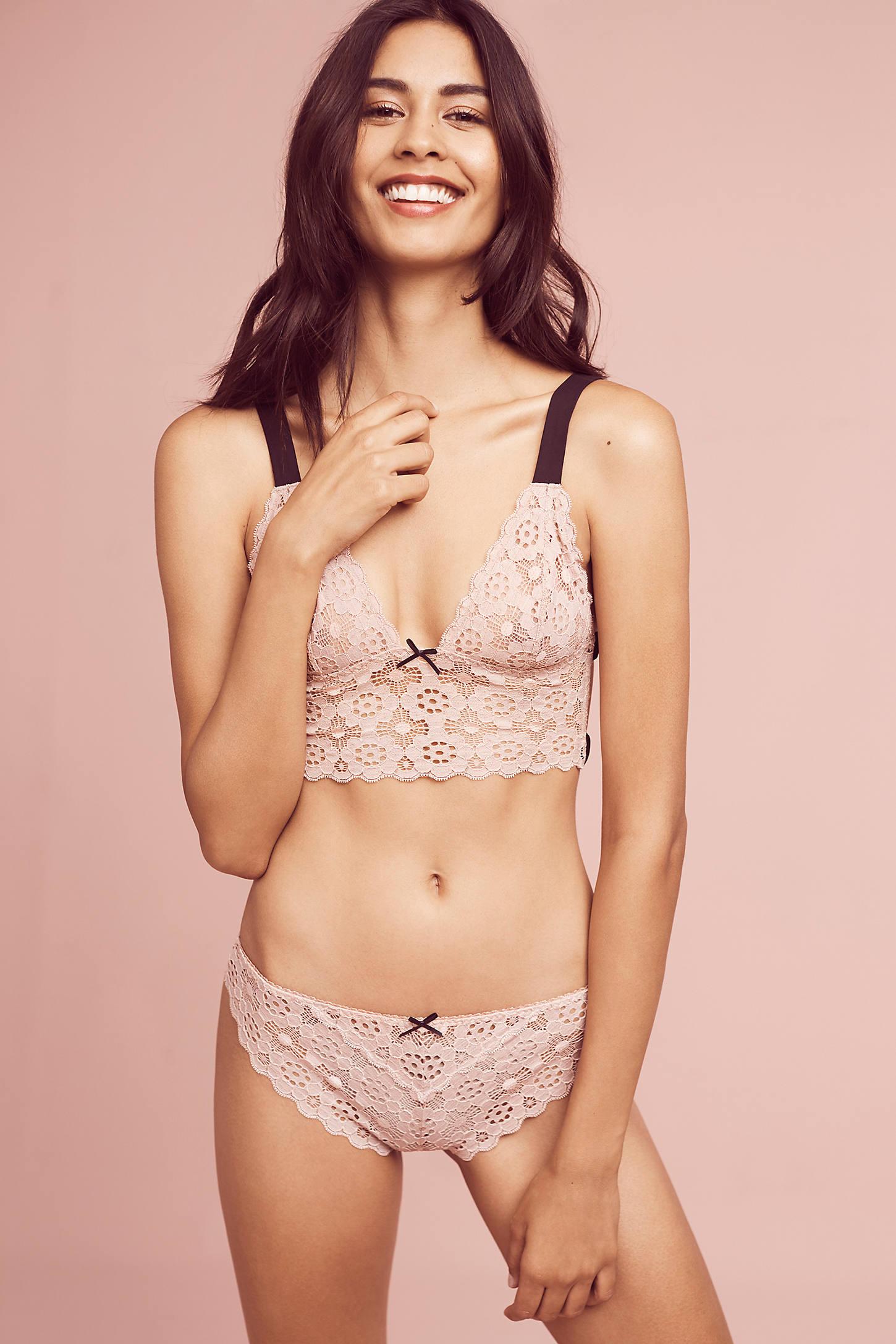 Fleur du Mal Crocheted Lace Bikini
