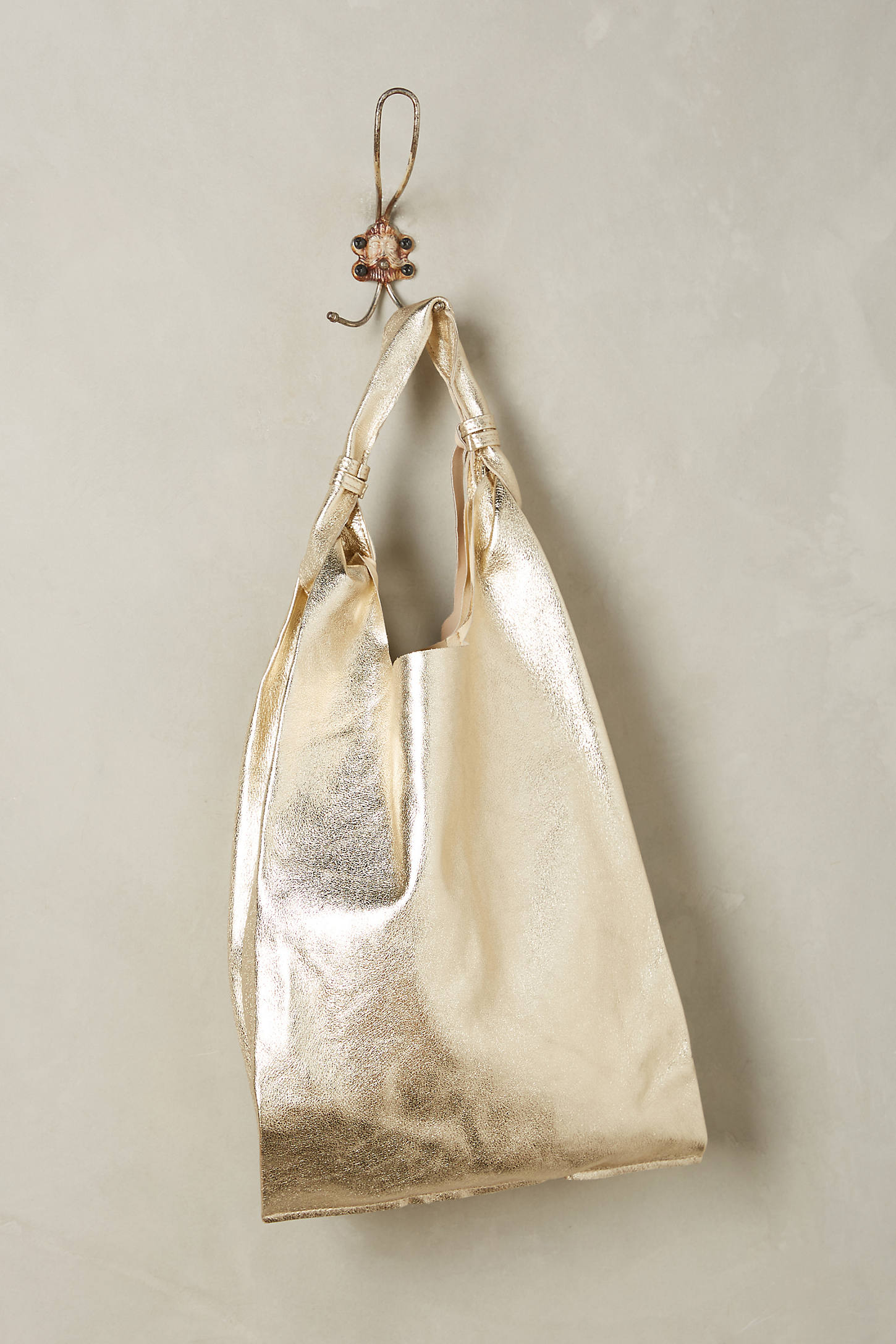 Trevi Metallic Leather Tote
