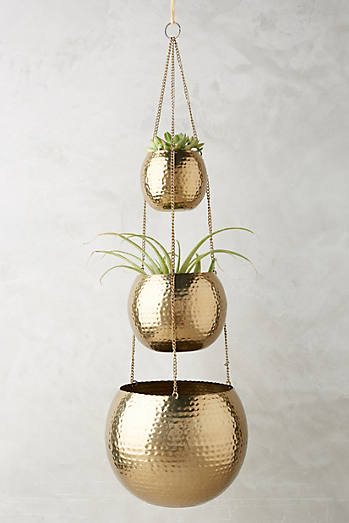 Hammered Trio Plant Hanger
