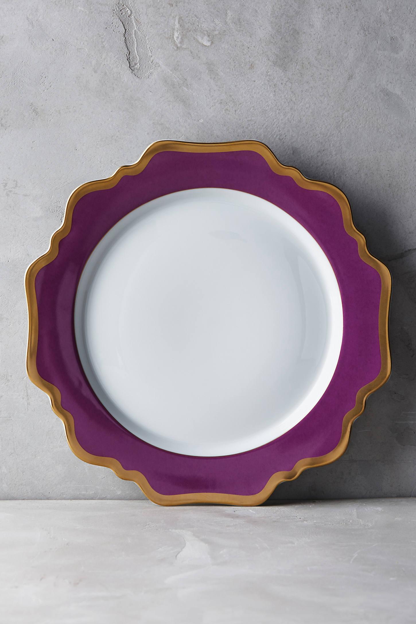 Anna's Palette Purple Orchid Dinner Plate