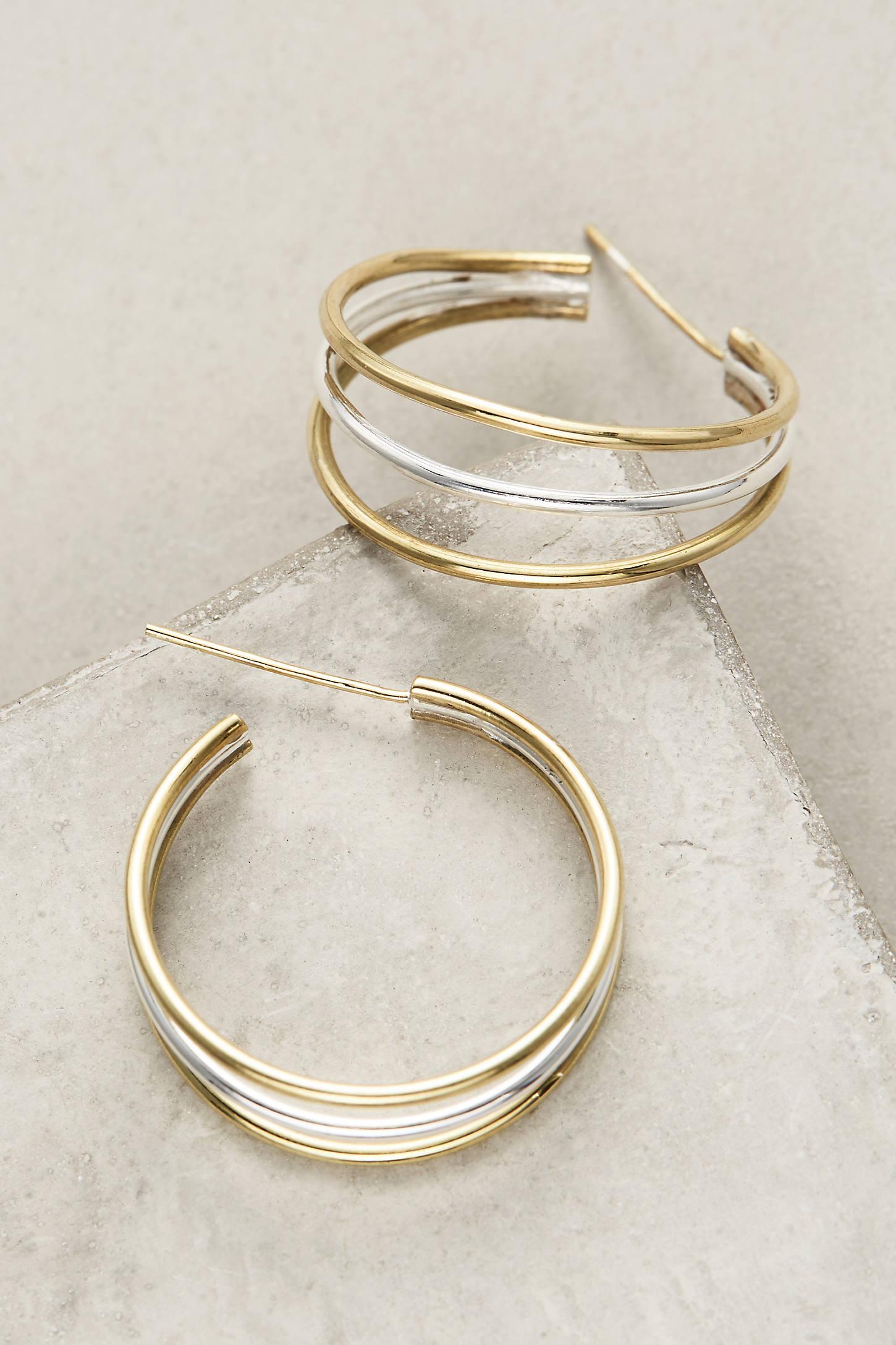 Triplet Hoop Earrings