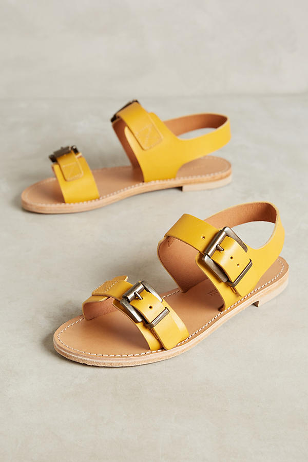 e4898aed09dd Morena Gabbrielli Yellow Leather Sandals Anthropologie