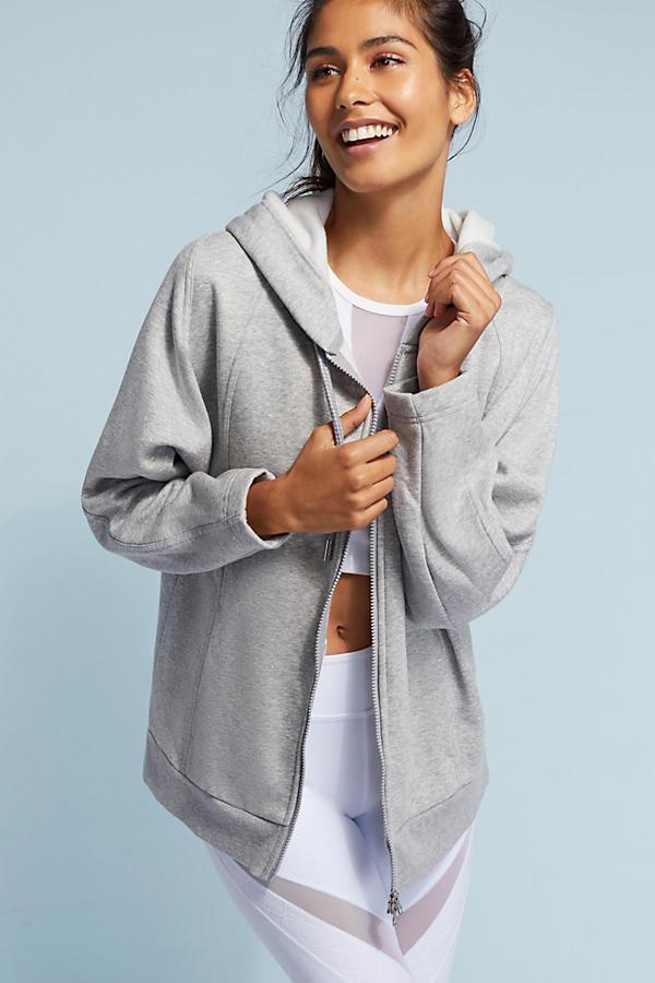 Adidas by Stella McCartney Essential Zip-Front Hooded Sweatshirt
