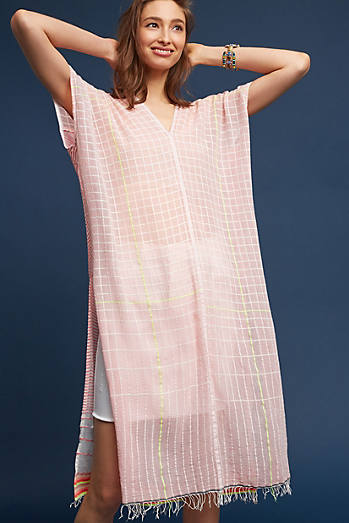 Textured Kaftan Cover-Up