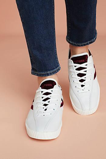 Tretorn Velvet Check Sneakers
