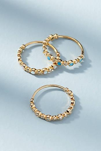 Opal Lustre Ring Set