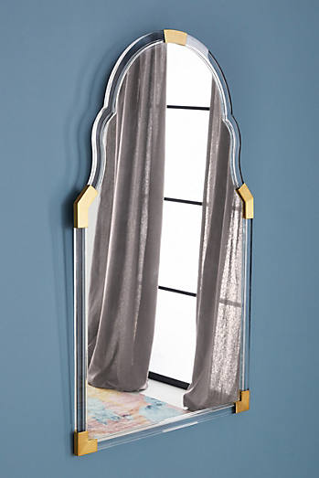 Arch Brass-Capped Mirror