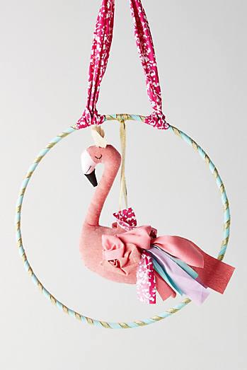 Fanciful Flamingo Wall Hanging