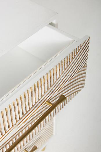 Carved Thalia Three-Drawer Dresser